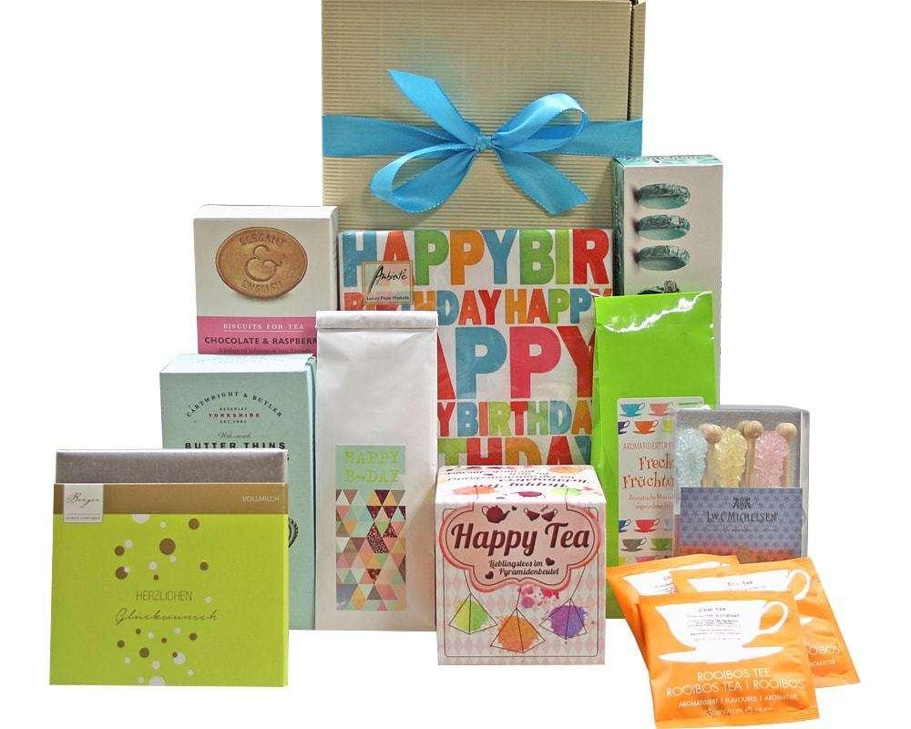 Happy Tea Geschenk zum Geburtstag | Geschenkkorb Welt
