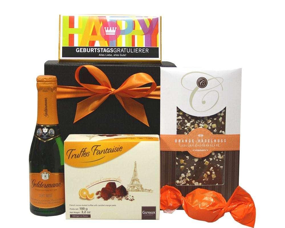 Geschenk Sekt und Schokolade | Geschenkkorb Welt