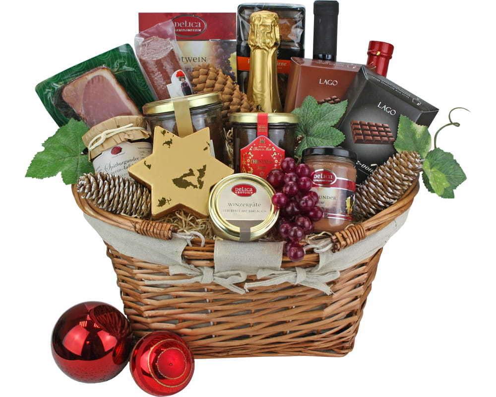 Geschenkkörbe Weihnachten | edle Weihnachtsgeschenkkörbe